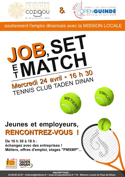 Job, Set & Match @ Tennis Club Taden-Dinan